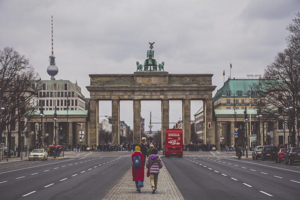 Berlijn Brandenburger Tor en Fernsehturm