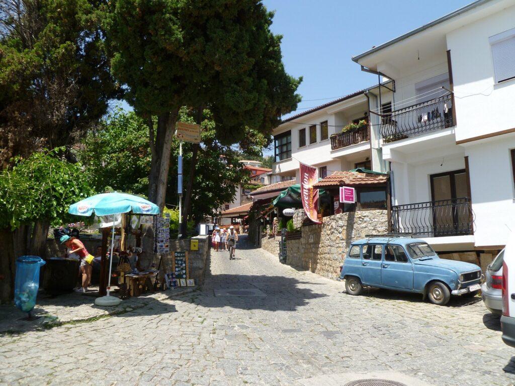 Smalle straatjes in Ohrid