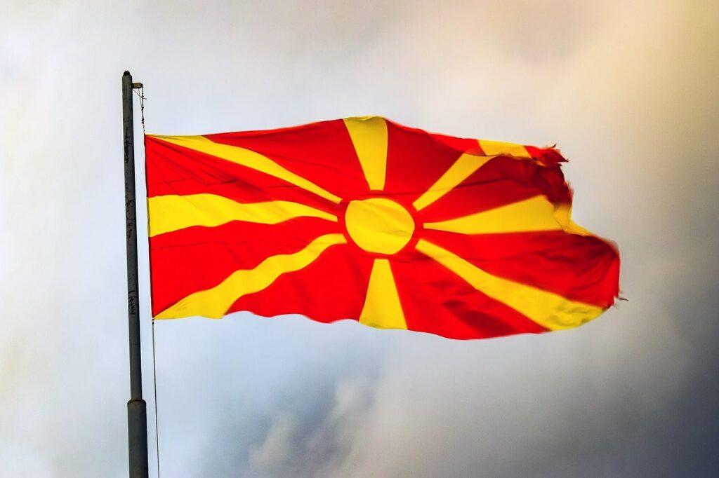 Vlag Noord-Macedonië