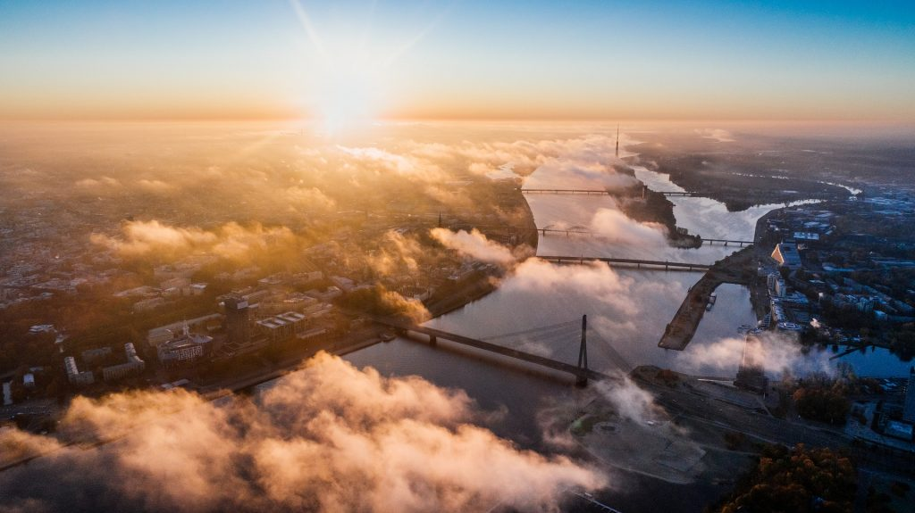 Riga vanuit de lucht