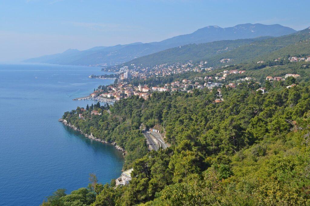 Adriatiasche Zee langs de Kvarner kust