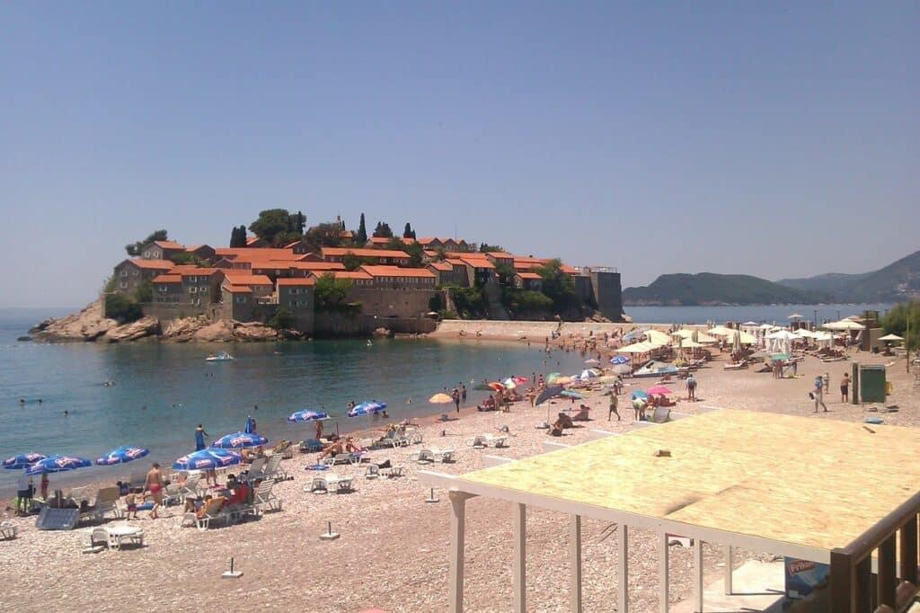 Montenegro strand Sveti Stefan