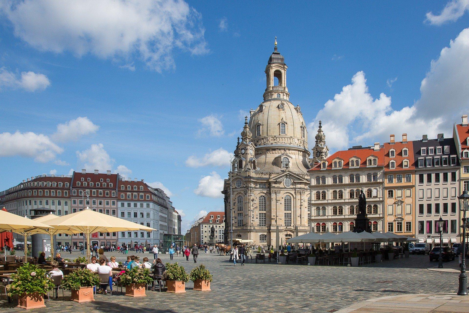 Frauenkirche aan de Neumarkt in Dresden
