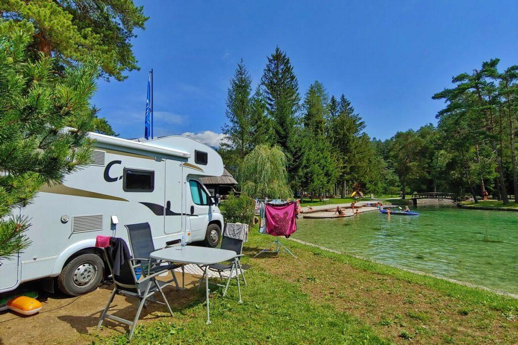 Camping Sobec - plek aan het water