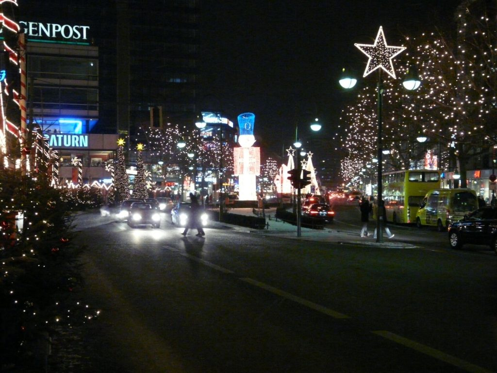 Berlijn Kurfürstendamm rond kerst
