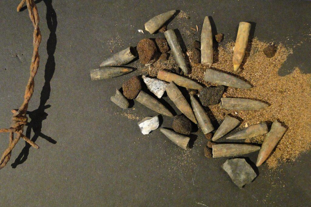 Kogels in het Bezettingsmuseum Riga