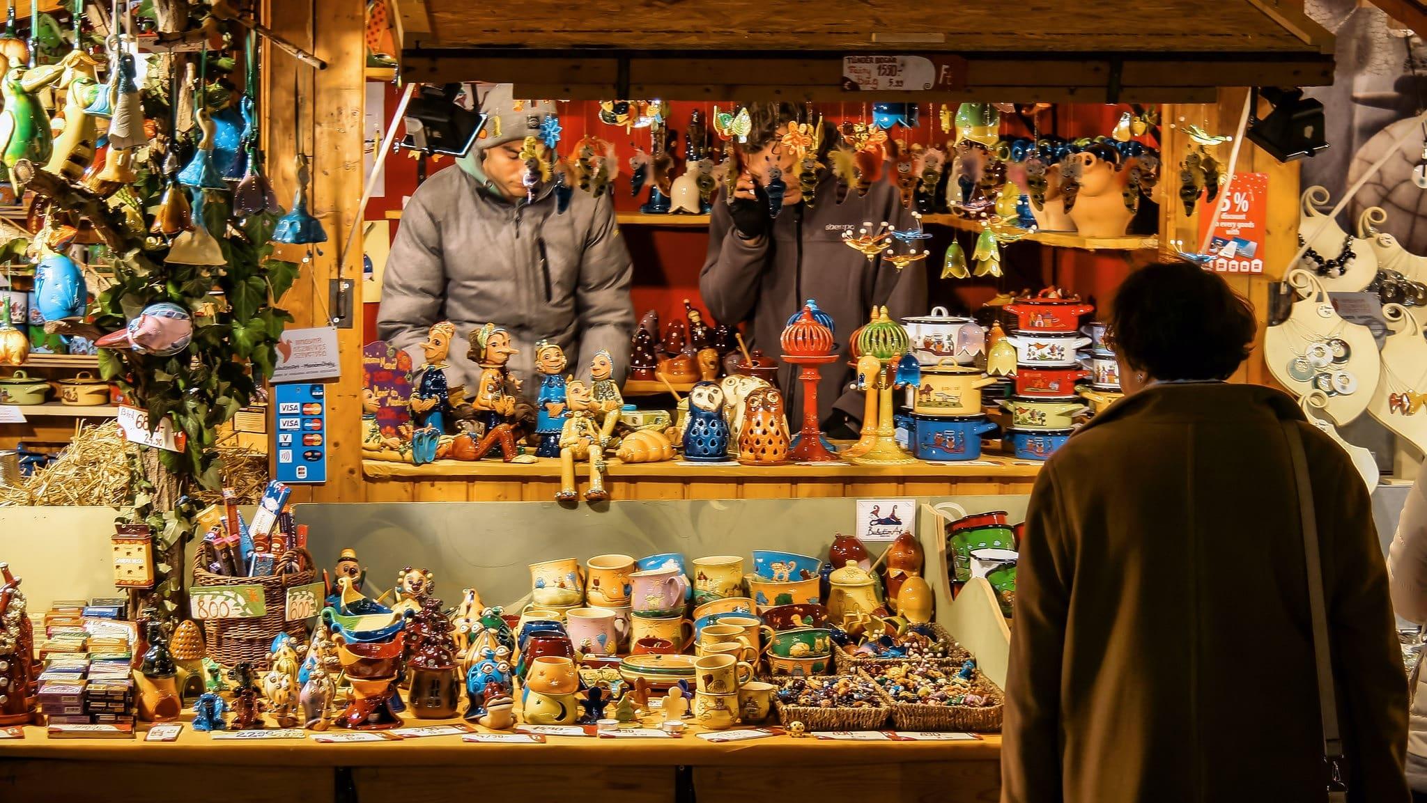 Kerstkraam in Boedapest