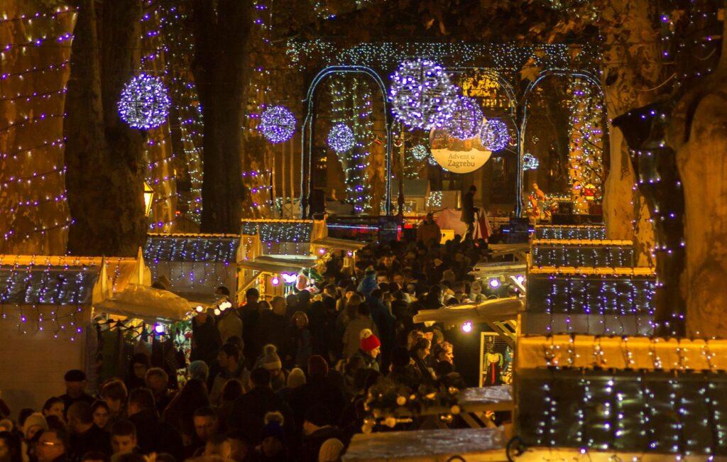 Kerstmarkt Zagreb Zrinjevac park