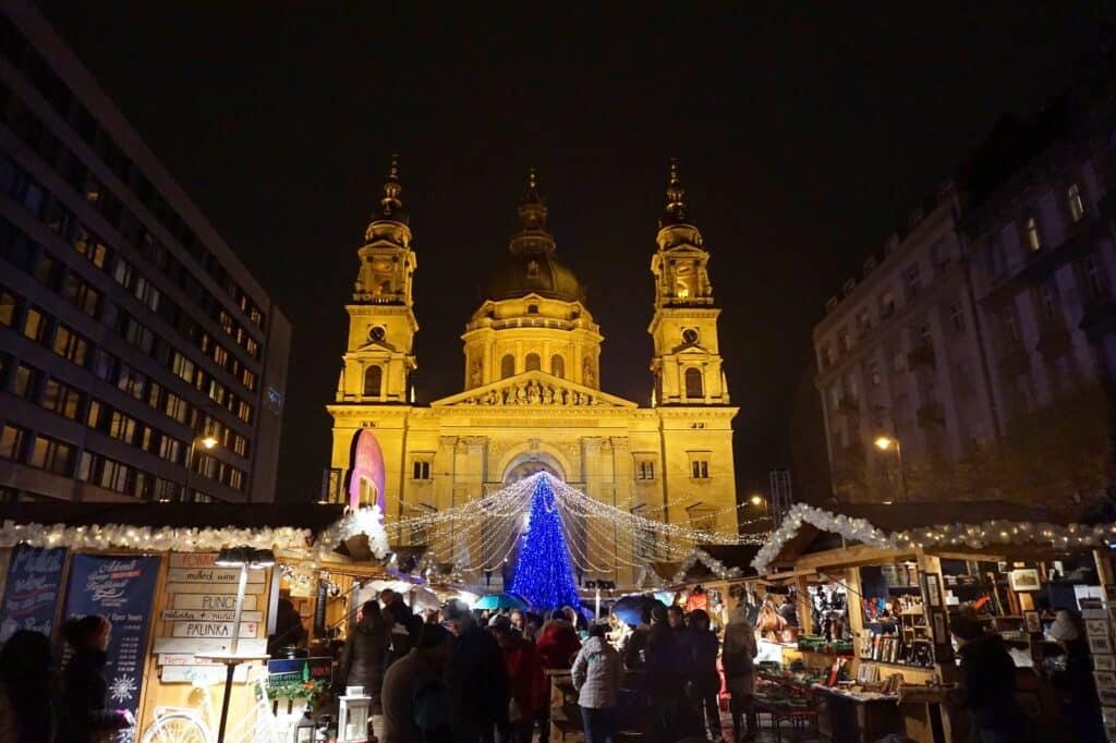 Kerstmarkt in Boedapest