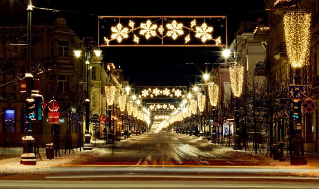 Vilnius in kerstsfeer