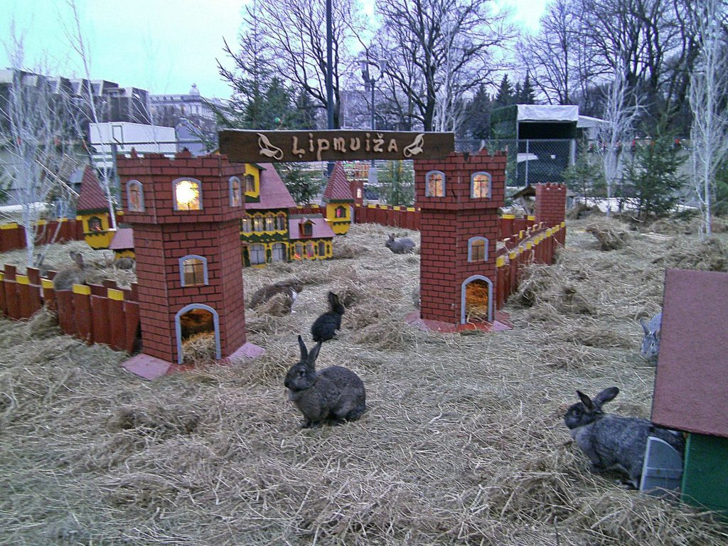 Konijnendorp in het Esplenāde Park