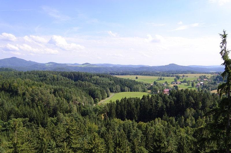 Uitzicht over Boheems Zwitserland
