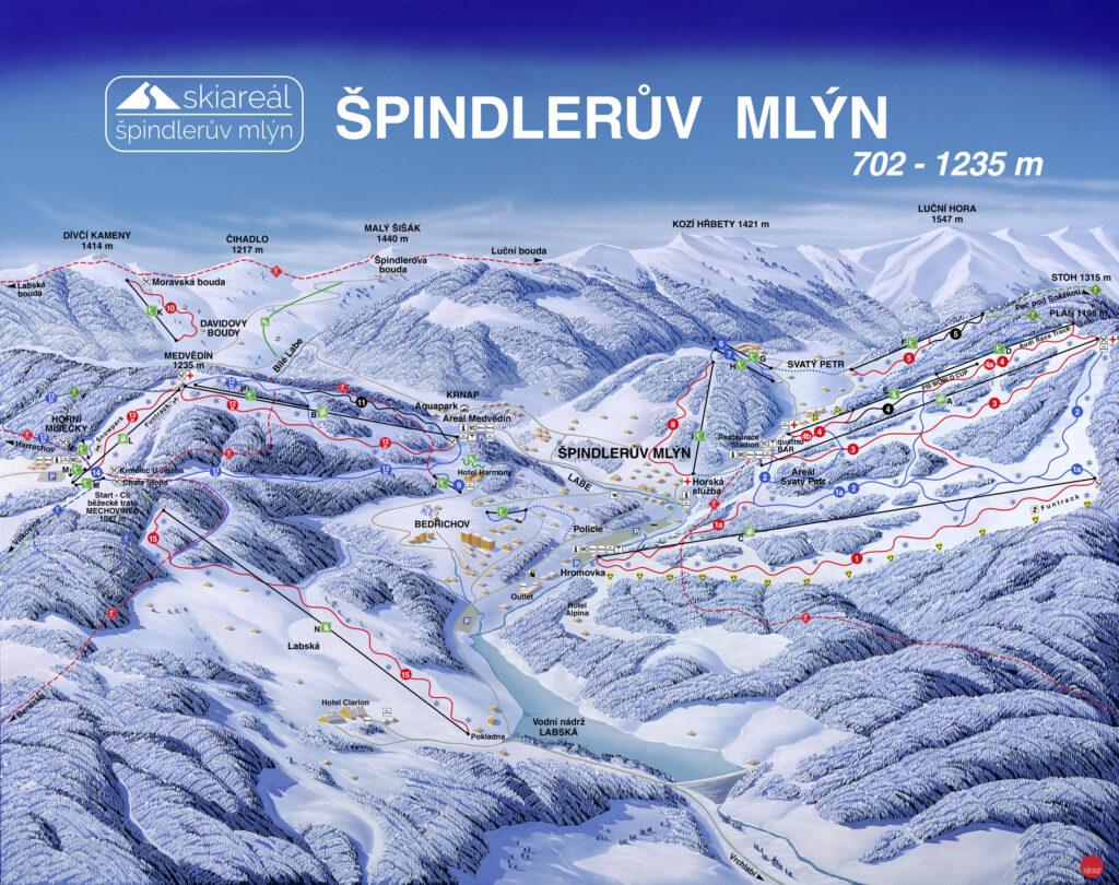 skigebied Špindlerův Mlýn