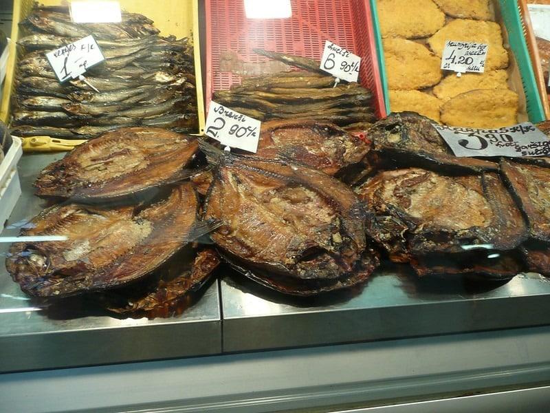 gedroogde vis