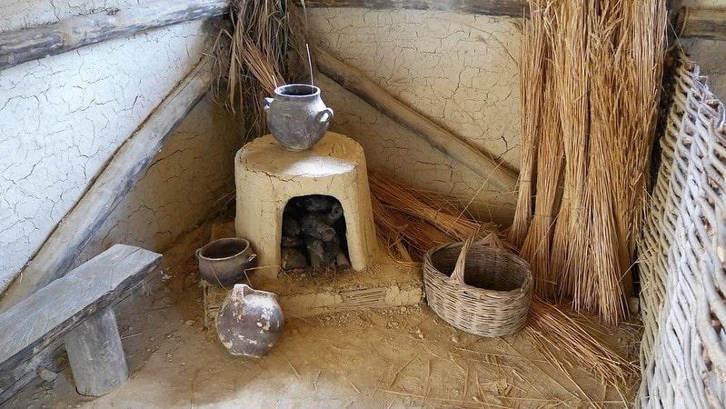 Kachel in een huisje