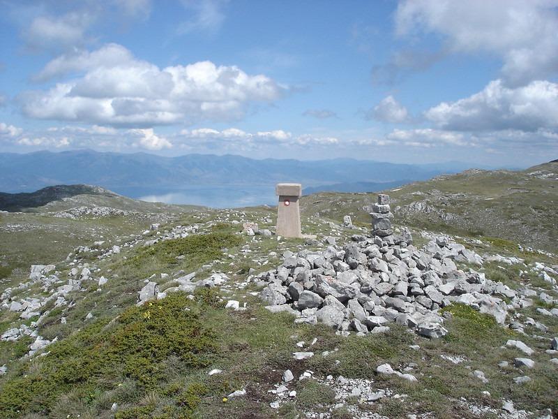 Magaro - hoogste berg Nationaal Park Galičica