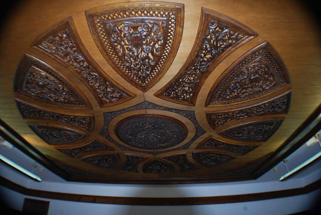 Prachtig bewerkte plafond