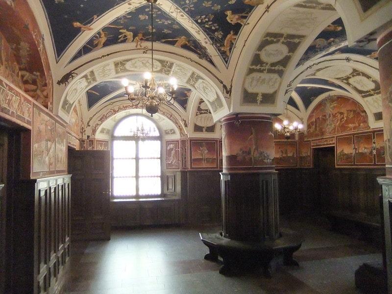 Fresco's in de Universiteit van Vilnius