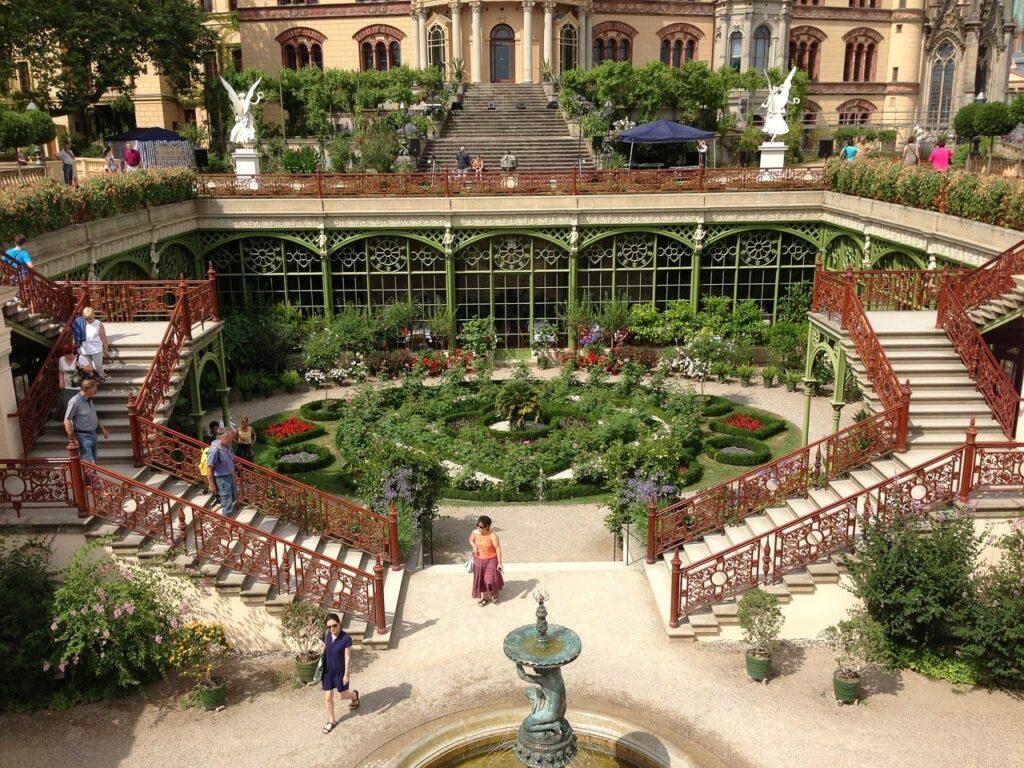 Kasteel van Schwerin tuin