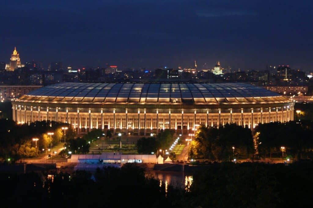 Luzhnik tsadion avond