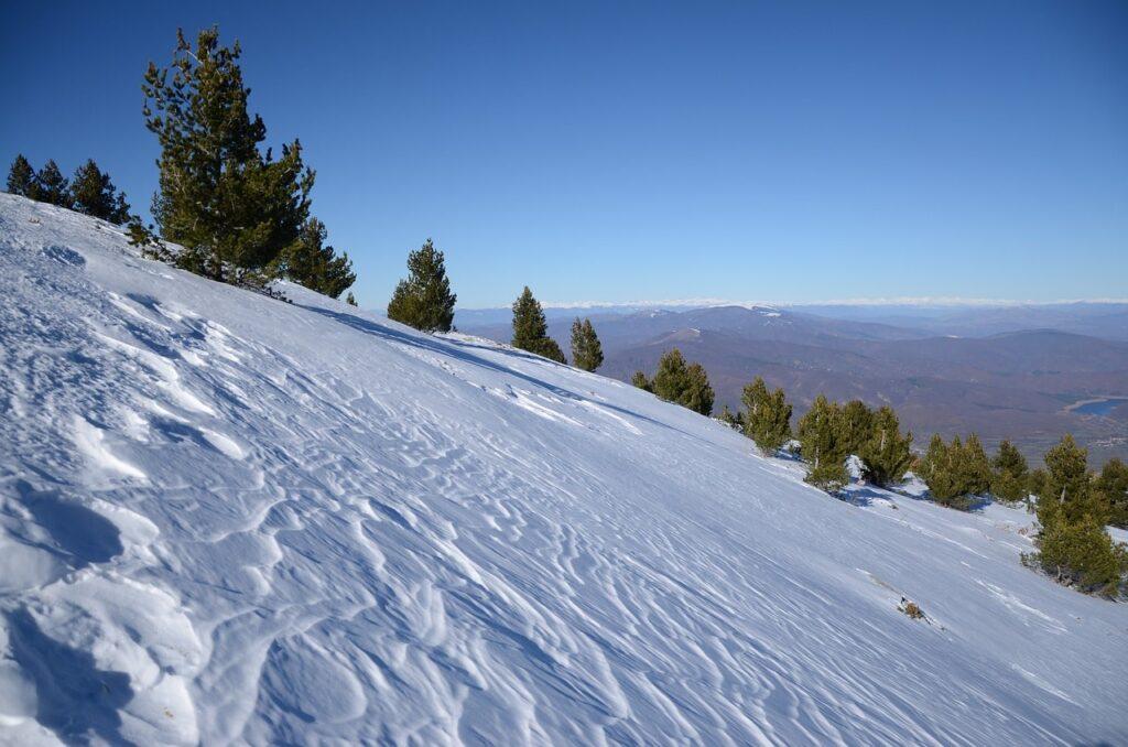Sneeuw in Nationaal Park Pelister