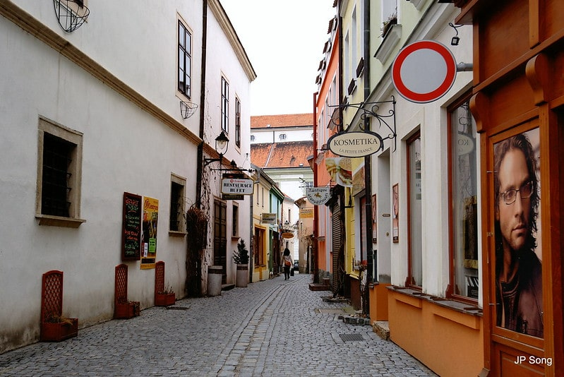 Smalle middeleeuwse straatjes
