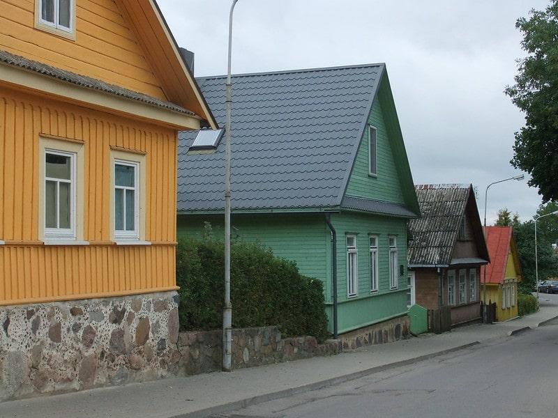 Houten huizen