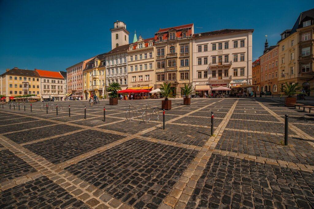 klassieke panden in het centrum van Zittau