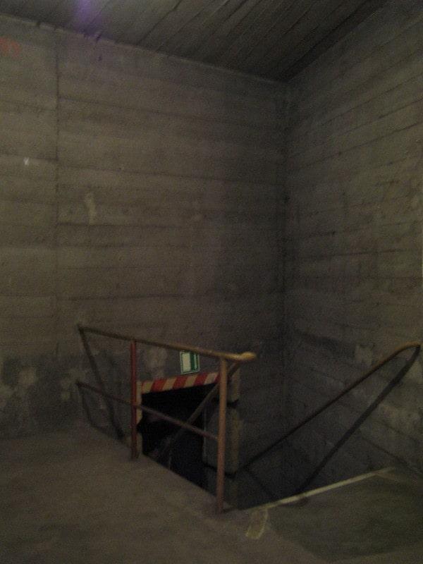 Dikke mure in de bunker