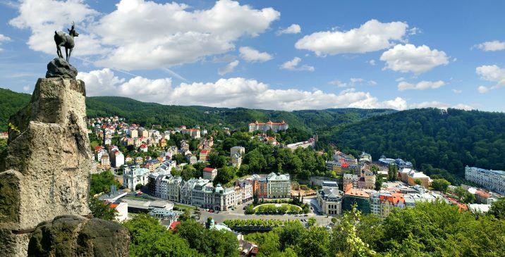 Karlovy Vary vanuit de lucht