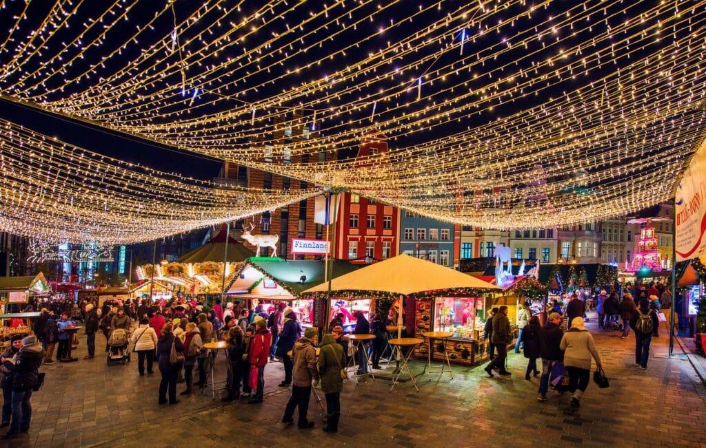 Kraampje op Kerstmarkt Rostock